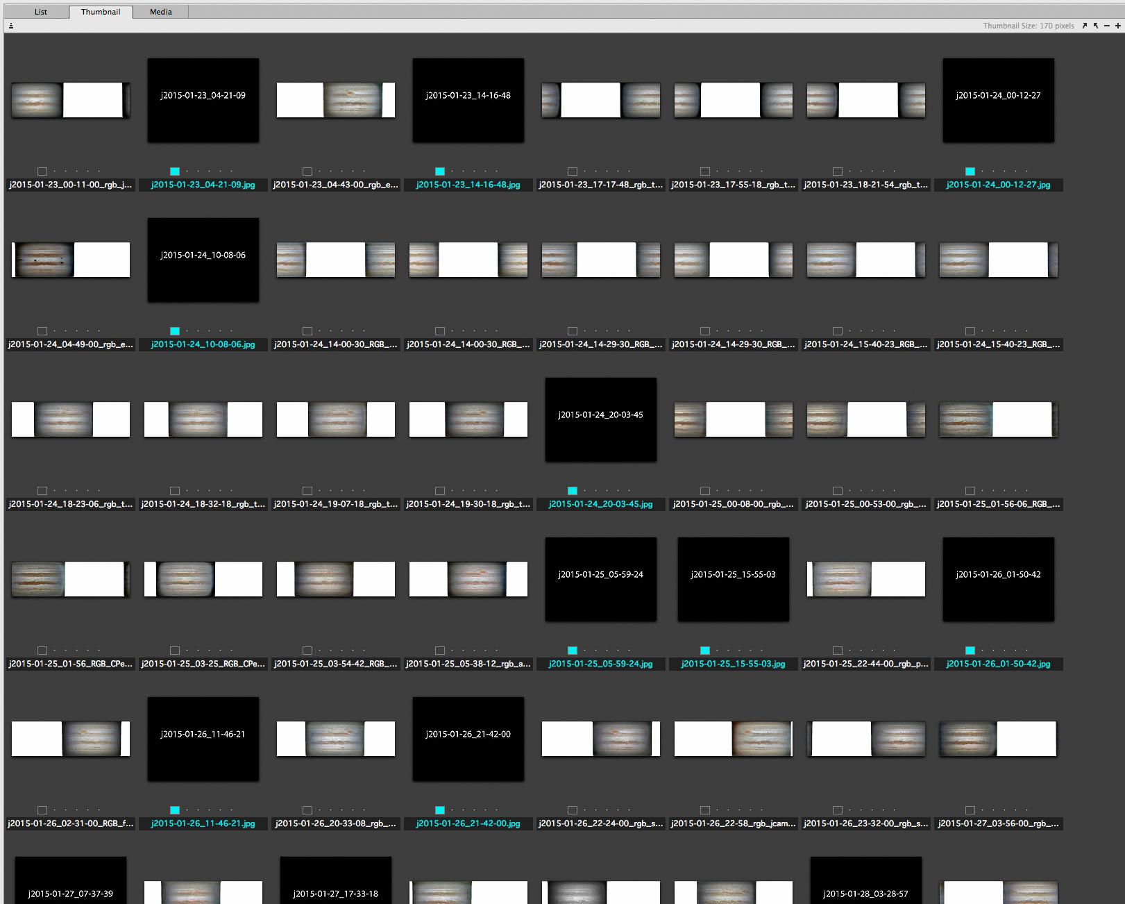 Assembling frames in chronological order
