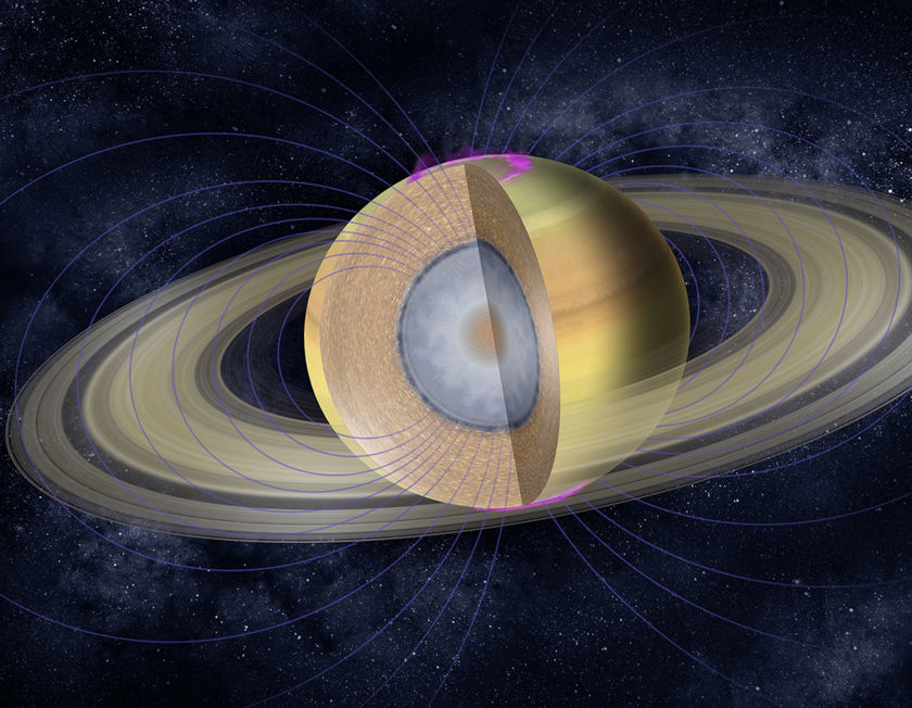 Saturn's interior structure