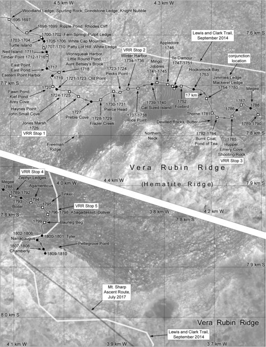 Phil Stooke's Curiosity route maps (updated to sol 1810)