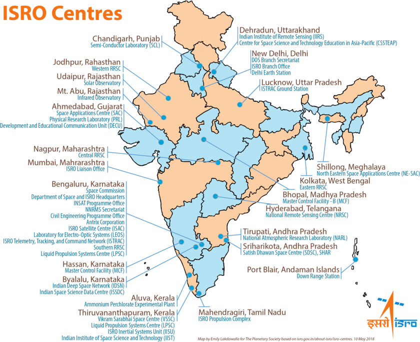 Indian Space Research Organisation (ISRO) Centres