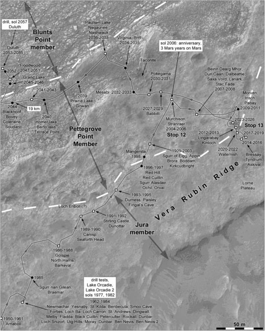 Phil Stooke's Curiosity route maps (updated to sol 2085)