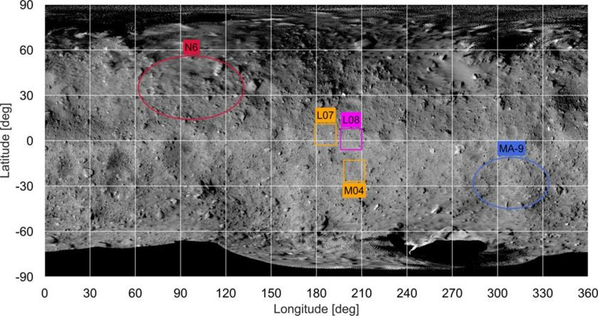Candidate landing sites for Hayabusa2 and its rovers