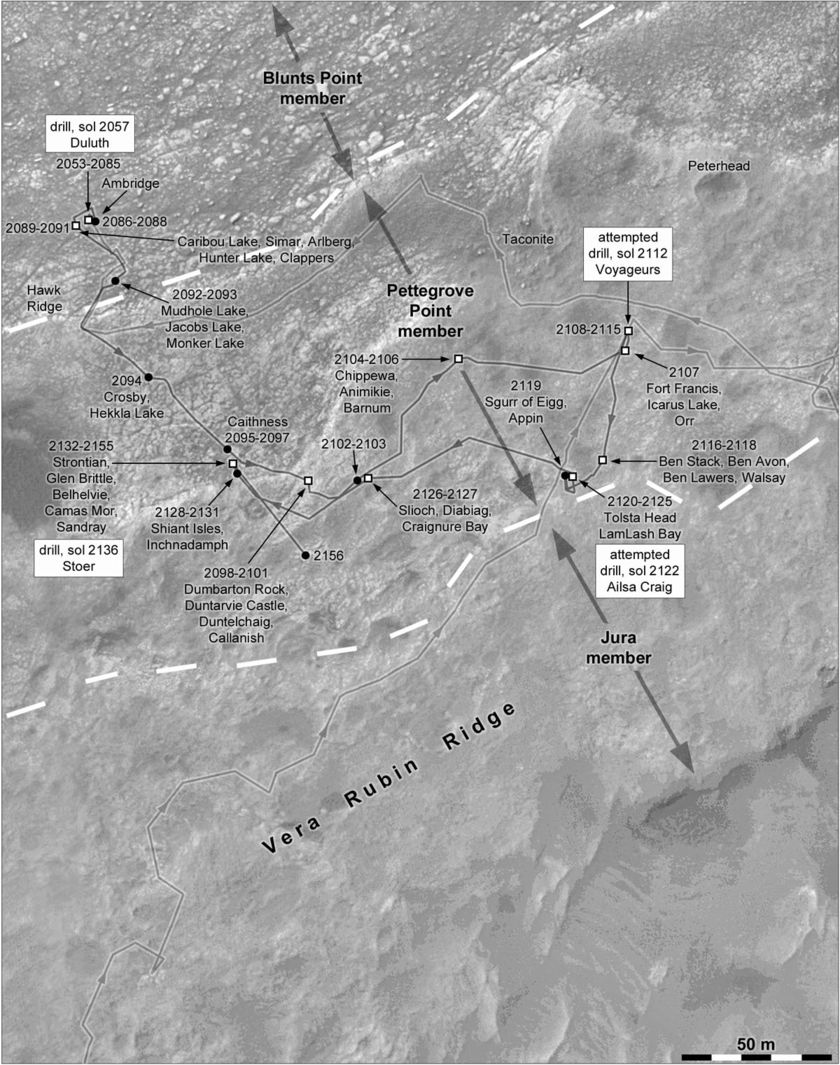 Phil Stooke's Curiosity route maps (updated to sol 2132)
