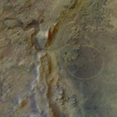 Mars 2020 landing ellipse in Jezero crater