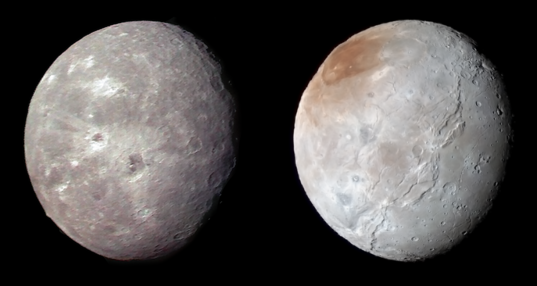 Oberon and Charon, compared
