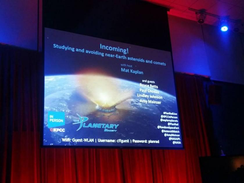 Planetary Radio Live—Incoming!