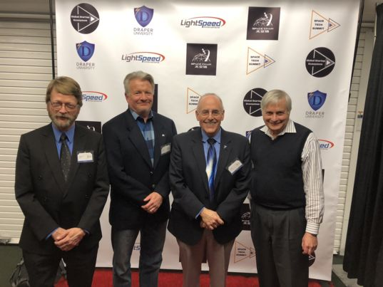 Mat and panelists at Space Tech Summit
