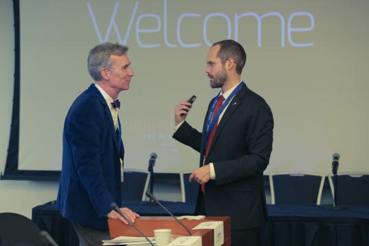 Bill Nye and Casey Dreier