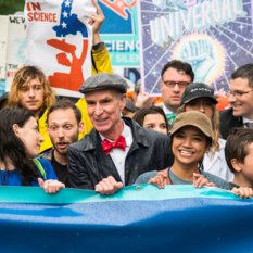 Planetary Society CEO Bill Nye joins marchers at the March for Science in Washington, D.C., April 22nd, 2017