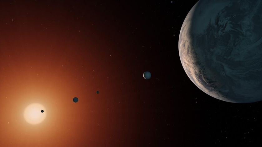 TRAPPIST-1 system artist concept