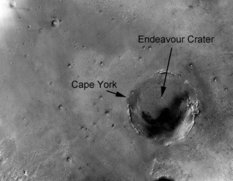 Endeavour Crater - Cape York aerial view