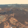 False-color Matijevic Hill Vista (Opportunity 2013-01-24)