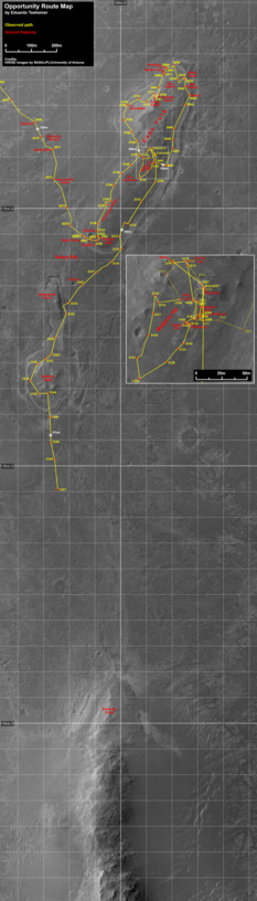Opportunity route map