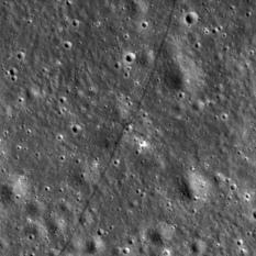Lunokhod 2 tracks on the Moon