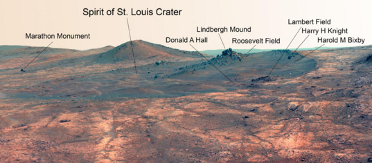 Spirit of St. Louis Crater