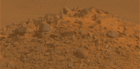 Pompys Tower in Martian color