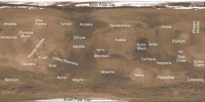 Mars regions