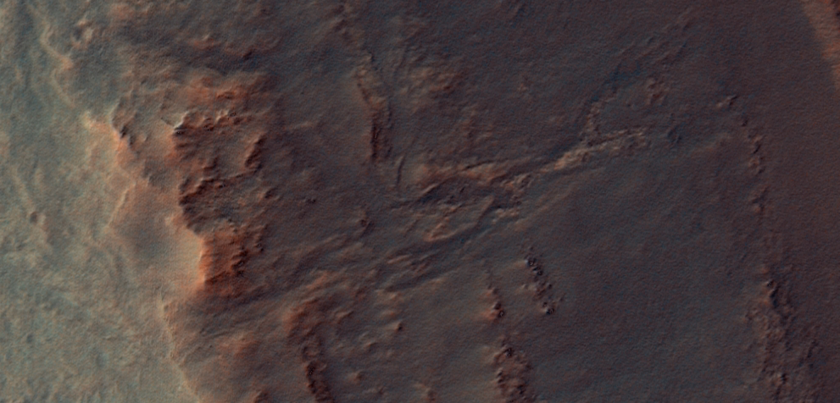 Perseverance Valley view from orbit