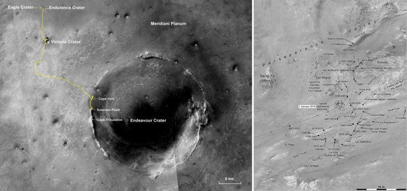 Opportunity's long and winding road
