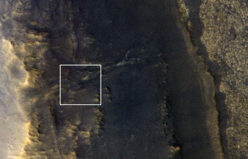 Opportunity as seen from orbit