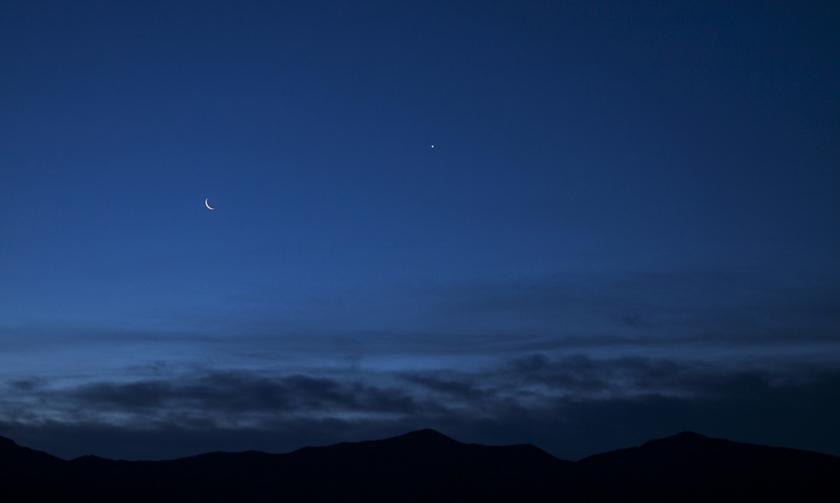 Moon and Venus in Alamogordo, NM