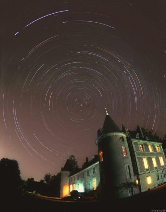 Night sky rotation in Burgundy
