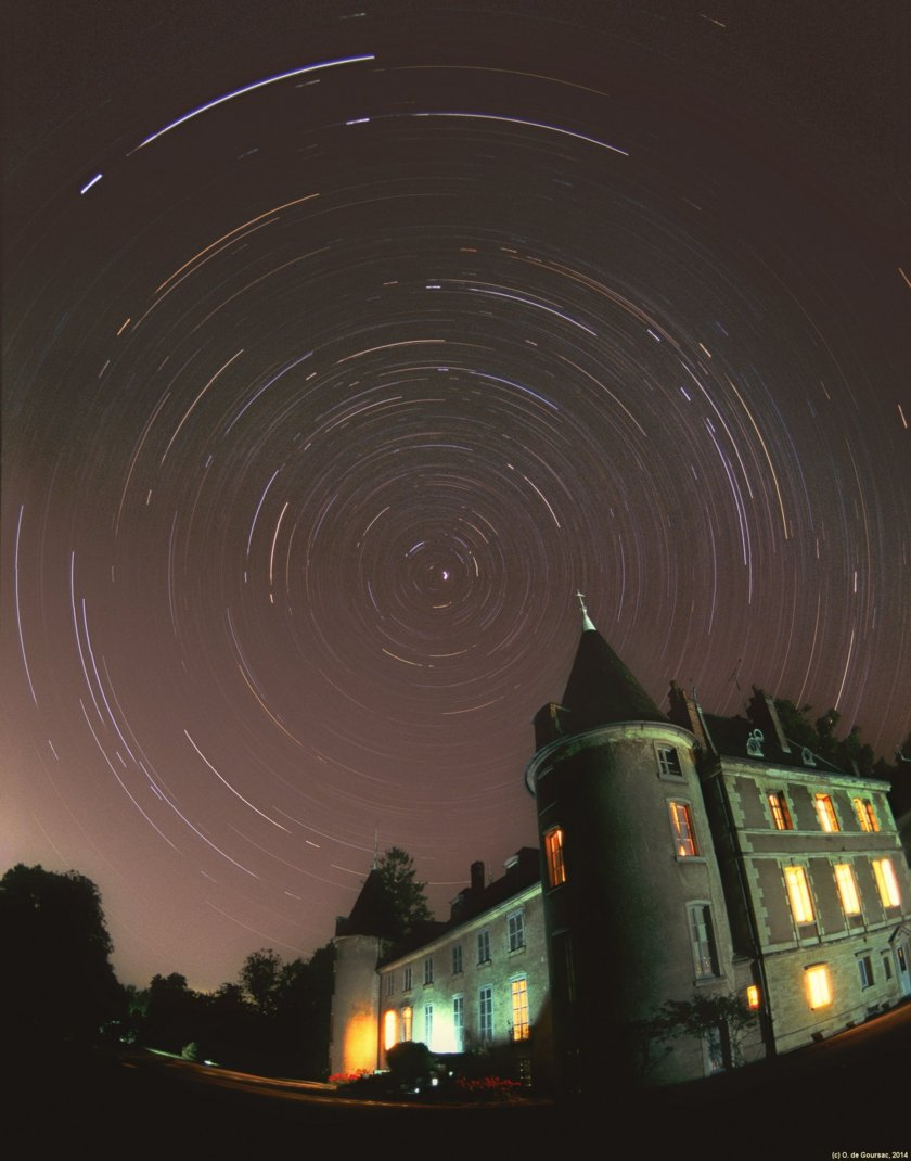 Night sky rotation in Burgundy