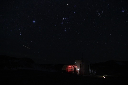 Night sky over Mars Desert Research Station