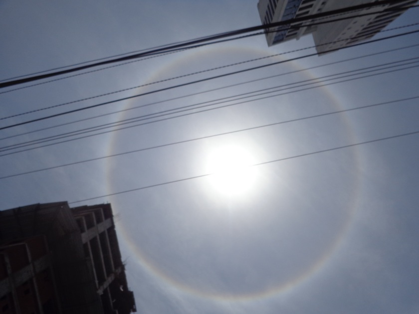 Solar Halo Over Cartagena, Colombia