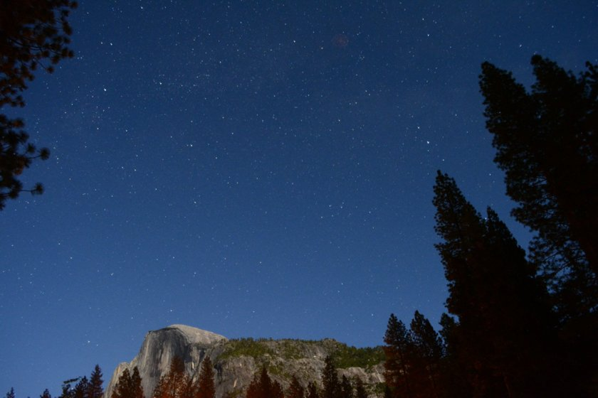 Night sky over Half Dome, Yosemite