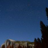 Night sky over Half Dome, Yosemite