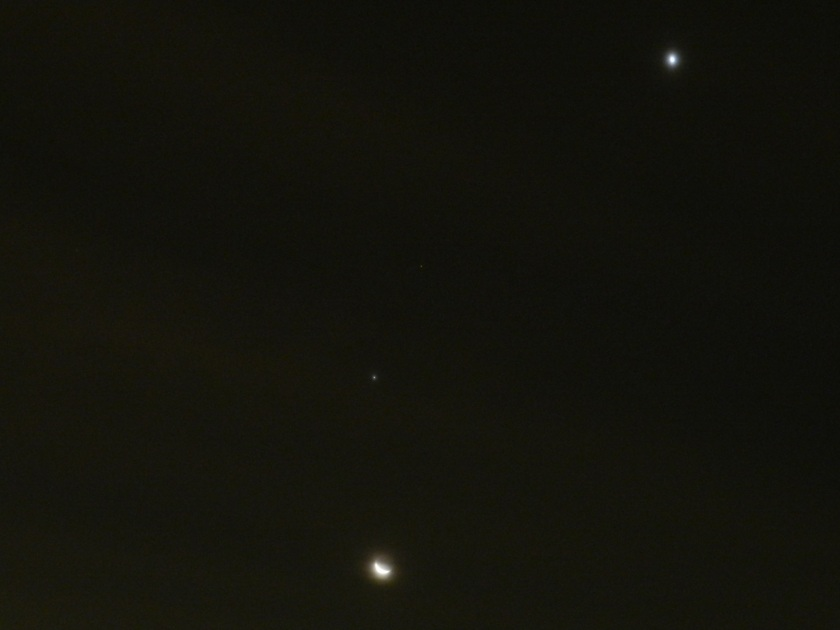 Three Planets and the Moon