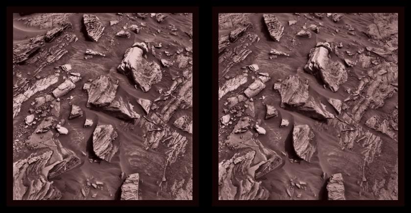 Curiosity Stories from AGU incites 3D image renderings