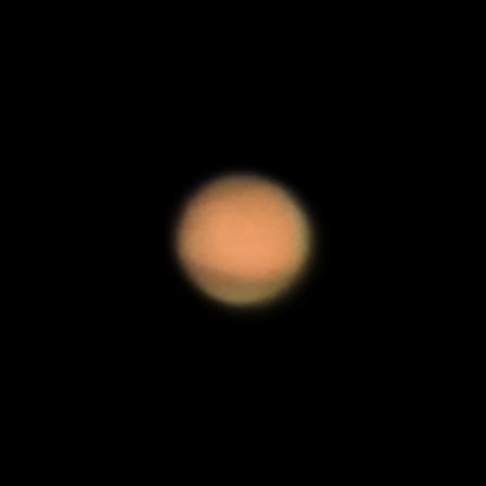 Mars, as seen from Pakistan