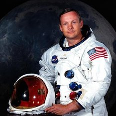 Portrait of Apollo 11 astronaut Neil Armstrong