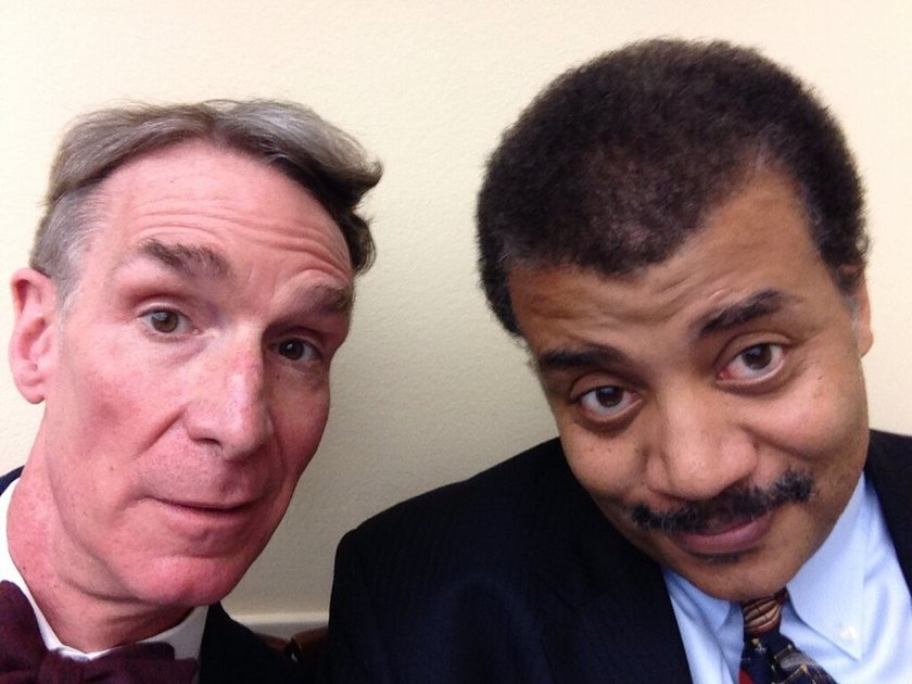Bill Nye and Neil deGrasse Tyson in Washington