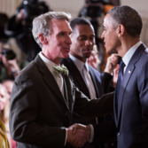 Bill Nye Greets President Obama