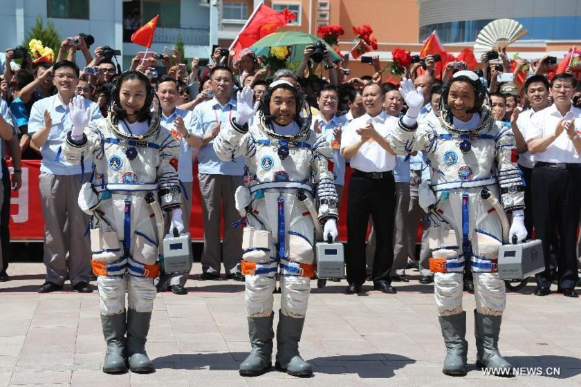 The crew of Shenzhou 10