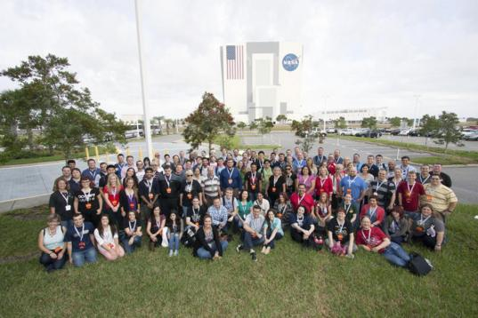 The MAVEN launch NASA Social attendees
