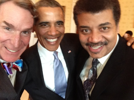 That time Bill Nye took a selfie with Neil Tyson and Barack Obama