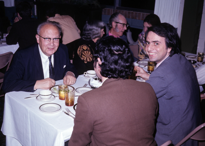 Gerard Kuiper and Carl Sagan
