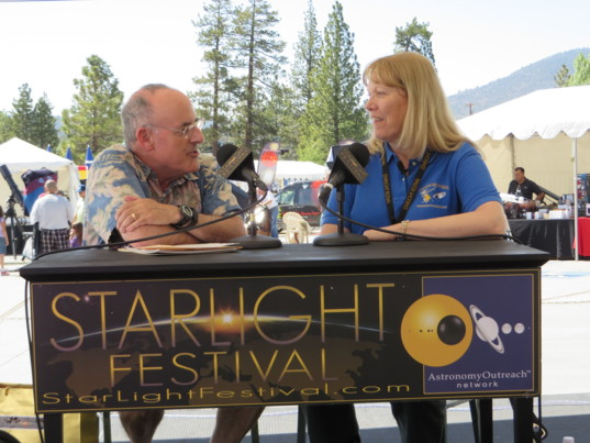 Mat Kaplan and Linda Spilker at the Starlight Festival