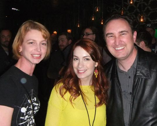 Emily Lakdawalla, Felicia Day, and Loren Roberts