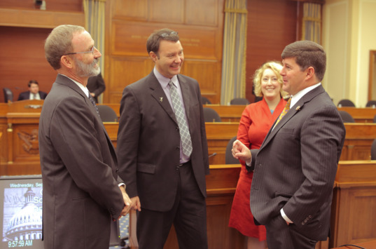 Phil Christensen, Jim Bell, and Chairman Palazzo