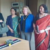 Visting students at the Miranda House at the University of Delhi
