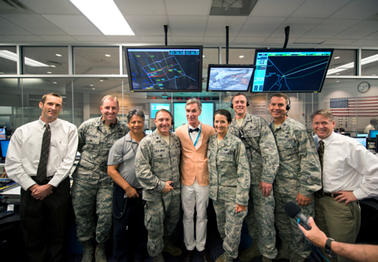 Bill Nye with Brig. Gen. Nina Armagno