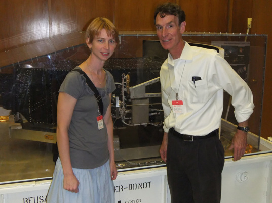 Emily and Bill with Hubble's WFPC2
