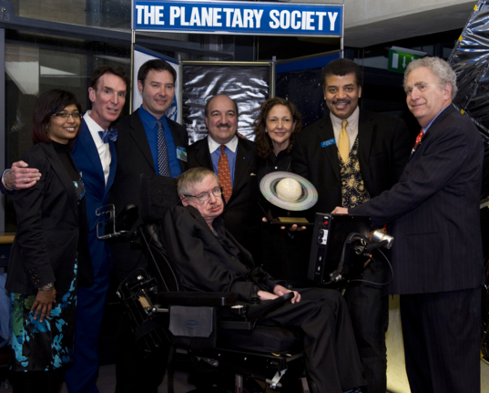 Stephen Hawking Receiving the 2010 Cosmos Award for Outstanding Public Presentation of Science