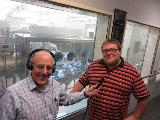 Mat Kaplan and Francis McCubbin at the NASA JSC Astromaterials Office