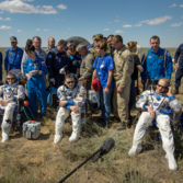 Expedition 47 crew after landing